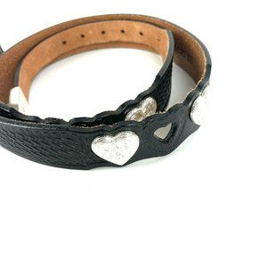 Silver Creek Collection Heart Belt 32 Leather